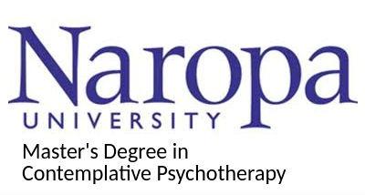 Naropa University logo with Heather Varnau's credentials
