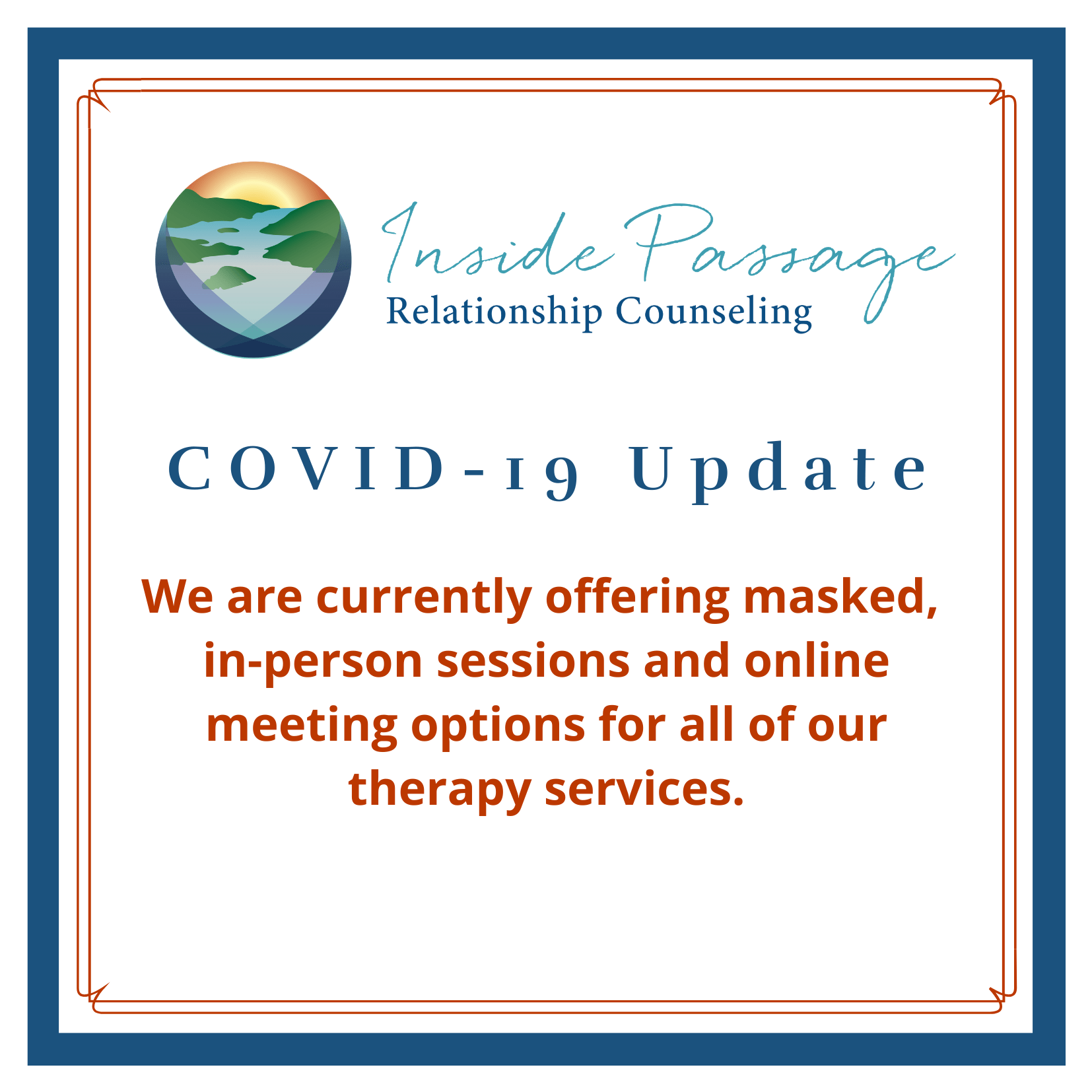 covid-19 update for inside passage counseling